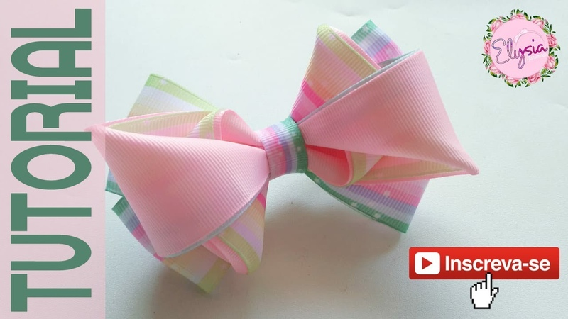 Laço Clarissa 🎀 Ribbon Bow Tutorial🎀 DIY by Elysia Handmade