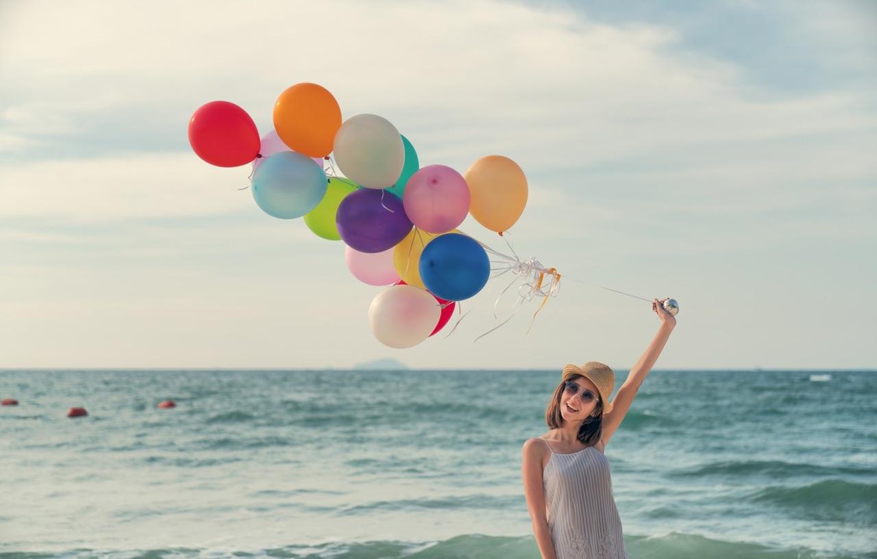 для картинка отпуск с шариками поденки, или