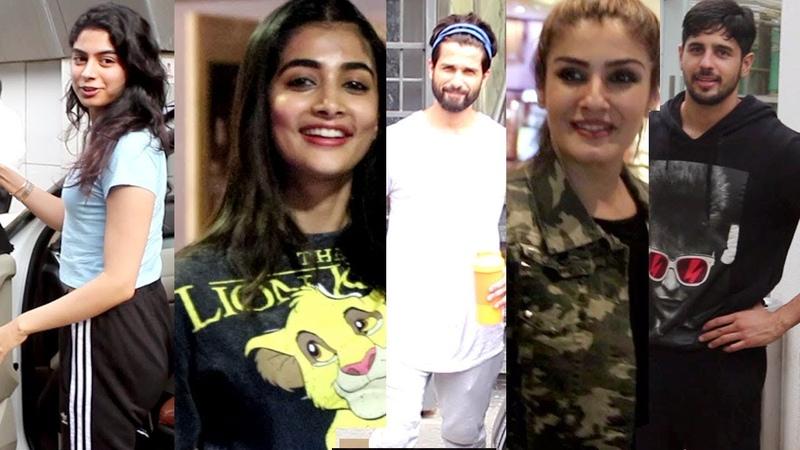 Khushi Kapoor, Pooja Hegde, Raveena Tandon, Shahid Kapoor, Siddharth Malhotra, spotted at Juhu