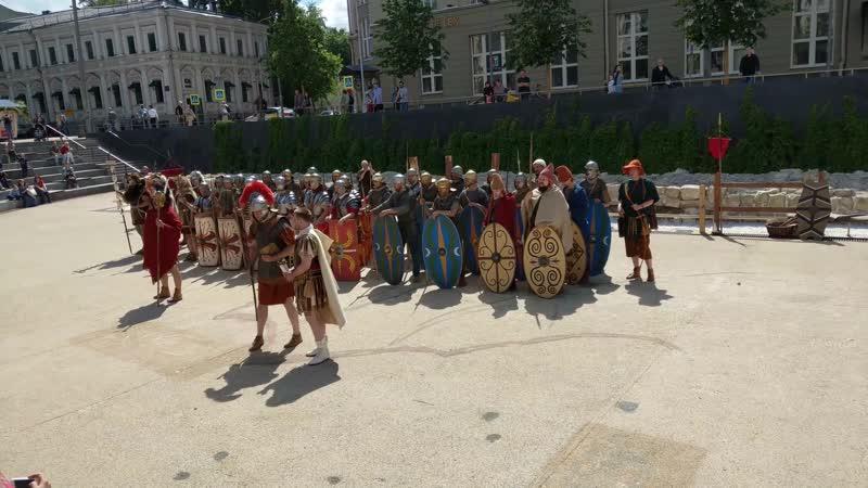 Парад сводной вексилляции войск Нижней Мезии и Таврии