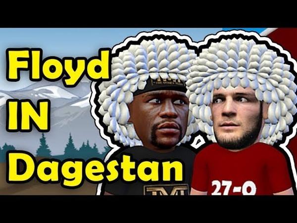 Floyd Mayweather in Dagestan promoting The Khabib Fight