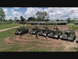 Т-34-85, которые до сих пор стоят на вооружении армии Лаоса