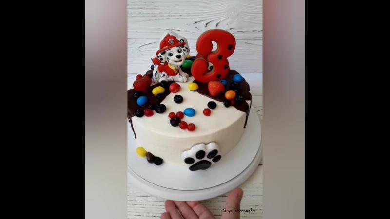 Тортик с Маршалом из мультфильма Щенячий патруль