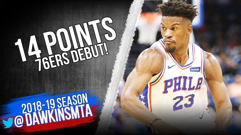 Jimmy Butler 76ers DEBUT 2018.11.14 vs Magic - 14 Pts, 2 Asts | FreeDawkins