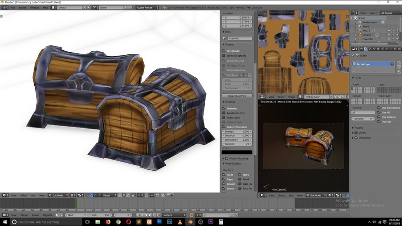 How to model a chest game asset in blender timelapes tutorial