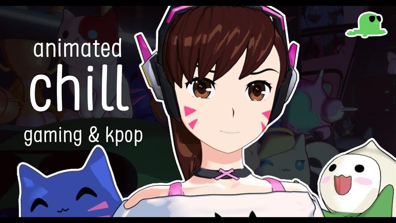 Late night chill with D.Va 🎮 lofi animated chill