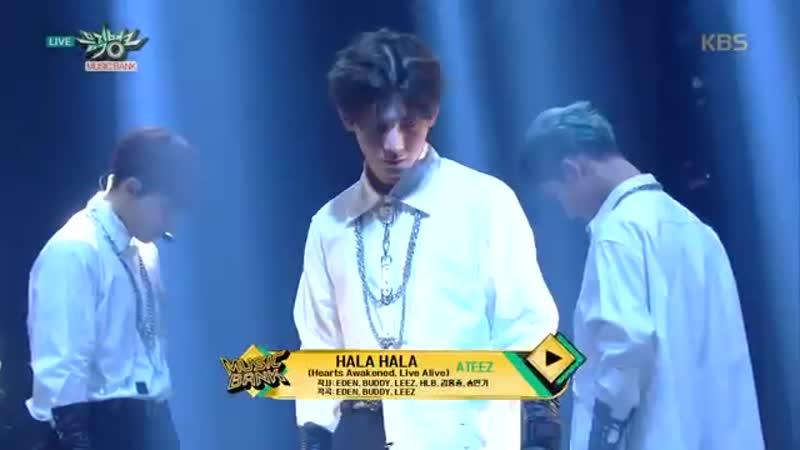 뮤직뱅크 Music Bank - HALA HALA (Hearts Awakened, Live Alive) - ATEEZ(에이티즈).20190215