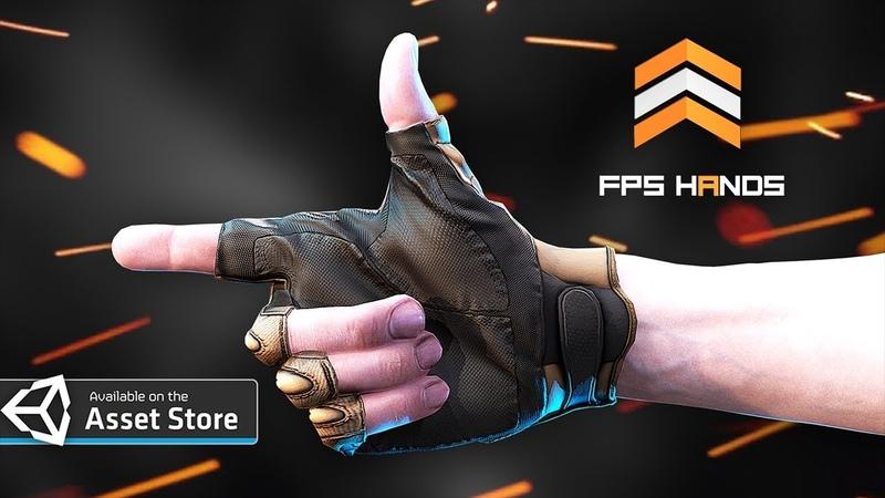 FPS HANDS Fingerless Gloves Unity