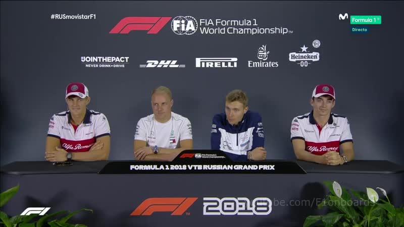 F-1 (сезон 2018): (16) ГРАН-ПРИ РОССИИ (Сочи) (пресс-конференция перед Гран-при) (27.09.2018)