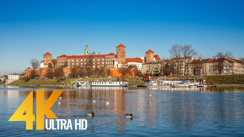 4K Cities of The World Krakow, Poland - 30 min Video with Music