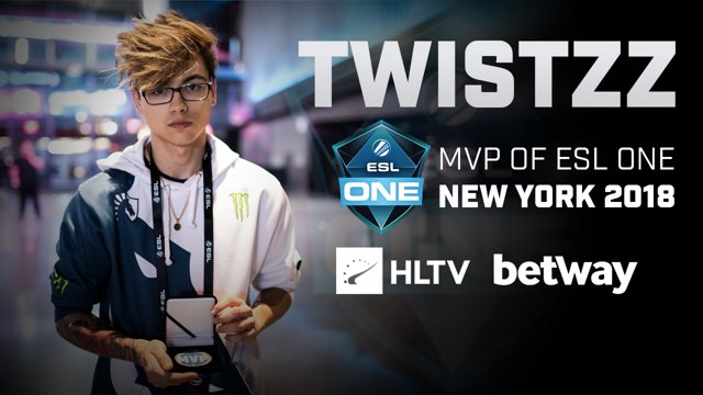 Twistzz - HLTV MVP by Betway of ESL One New York 2018