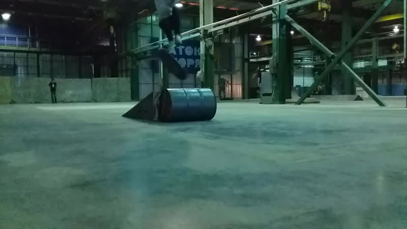360 flip from bank over barrel