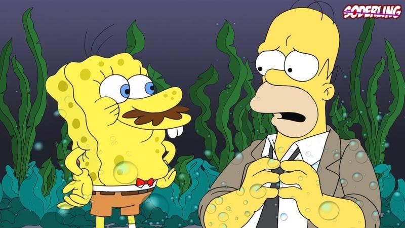 Спанч Боб в Симпсонах! | Отсылки на Губку Боба в Других Мультсериалах и Аниме