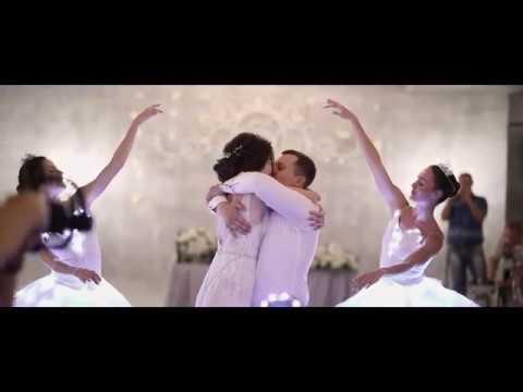 Световые балерины PRANA GROUP в свадебном танце