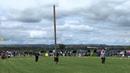 Tossing The Caber Highland Games Newburgh Fife Scotland