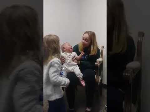 Baby Hear Her Sister's Voice for the First Time