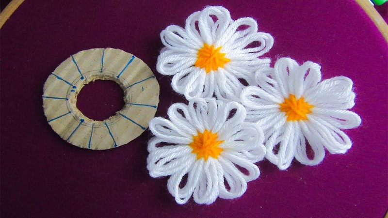 Hand Embroidery Amazing Trick Sewing Hack With Hizab Pin Easy Flower Embroidery Trick