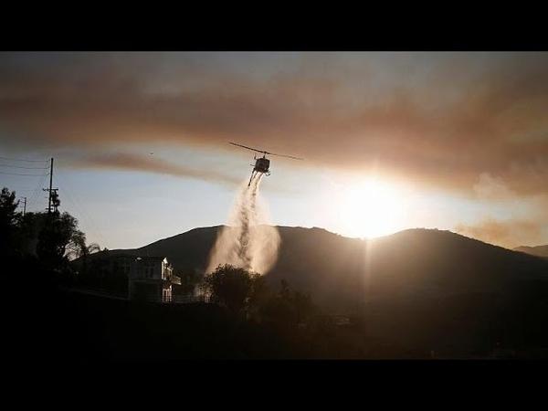 Национальная гвардия Калифорнии борется с огнём