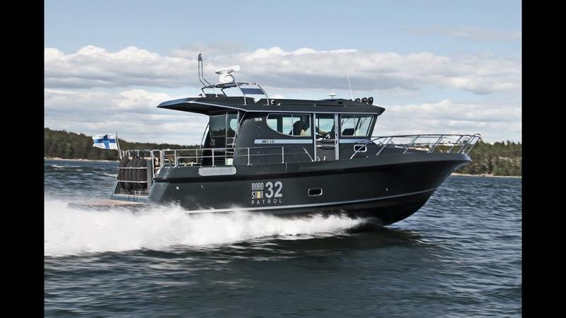 Морской всепогодный катер Nord Star 32 Patrol – Black Hawk! | Катер 2 каюты