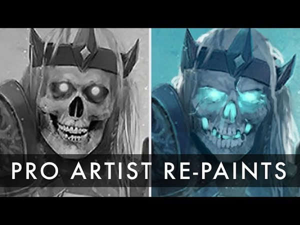 Pro Artist Repaints Skeleton Character
