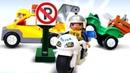 Lego oyuncakları. Araba park edilmeyen yere park ediyor.