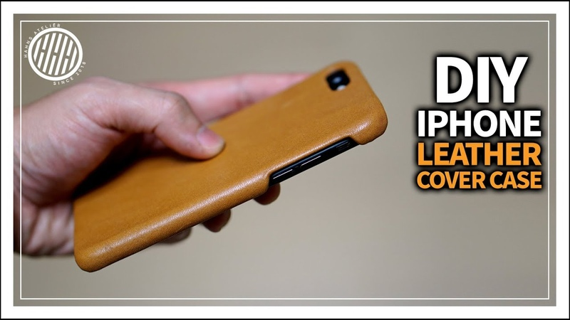 Leather Craft DIY Iphone leather case How to make Leather phone case Tutorial