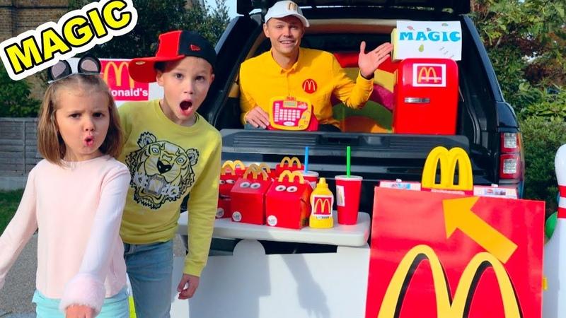 MaGiC McDonalds превратил настоящую еду в Мэджик МакДональдс turn real food in gummy