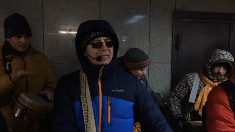 Харинама-санкиртана в Екатеринбурге (с 6 минуты нормальная картинка) 30.12.2018
