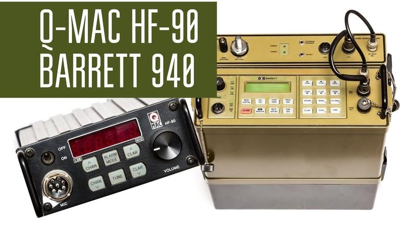 Радиосвязь с Q-MAC HF-90 и Barrett 940 Manpack-radio в полях.