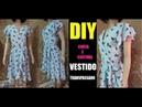 Vestido transpassado corte e costura DIY