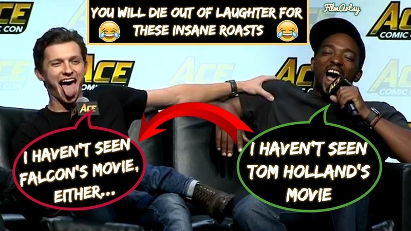 Anthony Mackie Sebastian Stan Continuously Roasting Tom Holland(Part-2) - Avengers: Infinity War