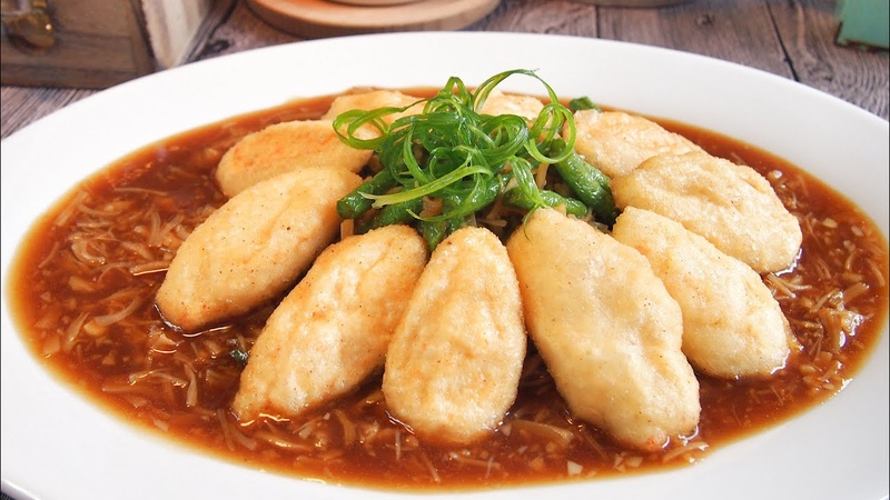 SUPER YUMMY Pipa Tofu in Scallop Sauce 干贝琵琶豆腐 Chinese New Year Dish Idea / Recipe
