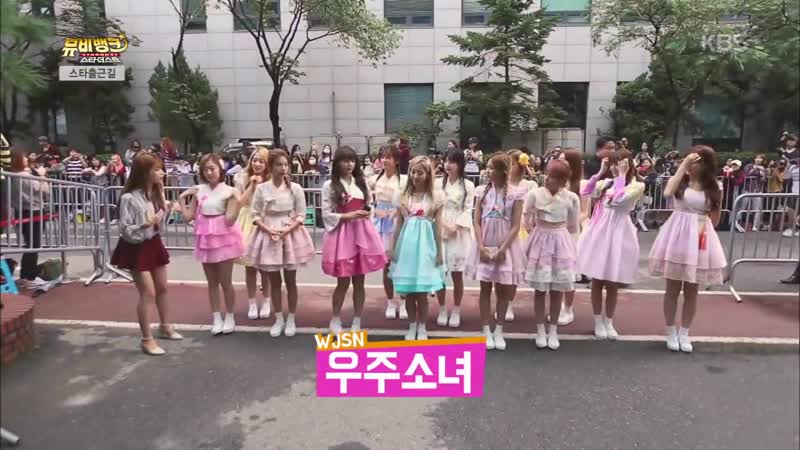 160909 SPICA (1:47) @ On the way to Music Bank