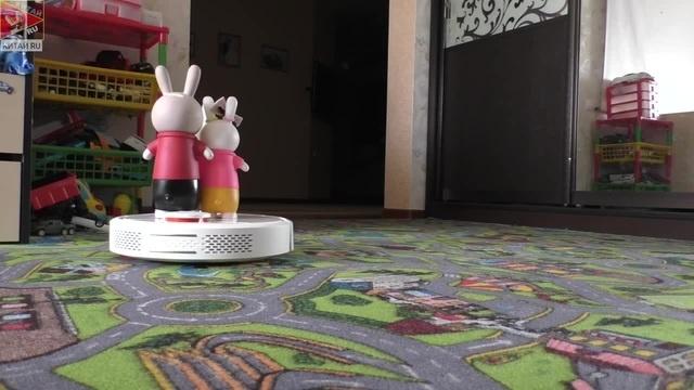 Не грози трёхмастному кошаку, сидя на своём Xiaomi MI ROBOT Vacuum Cleaner.