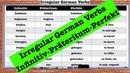 Irregular German Verbs List (Infinitiv-Präteritum-Perfekt)