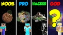 Minecraft NOOB vs PRO vs HACKER vs GOD SECRET PLANET BASE in Minecraft Animation