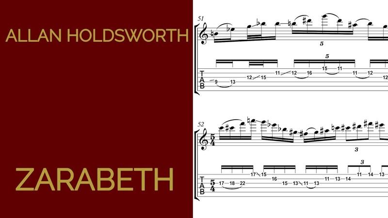 Allan Holdsworth Zarabeth Solo Transcription