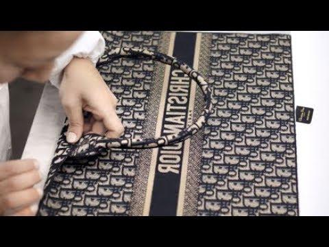 Savoir-faire Dior Book Tote in Dior Oblique Canvas