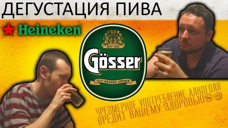 ДЕГУСТАЦИЯ ПИВА GÖSSER HEINEKEN