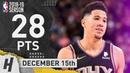 Devin Booker Full Highlights Suns vs Timberwolves 2018.12.15 - 28 Points, 7 Reb