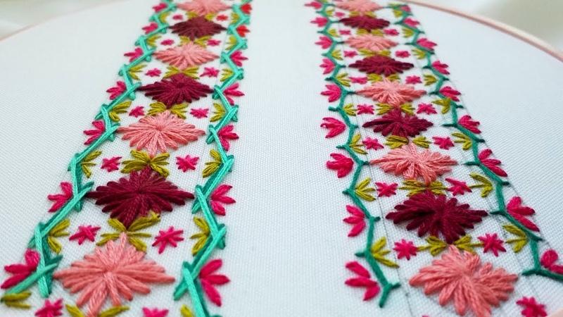 Hand Embroidery Decorative stitches Декоративные стежки Puntadas Decorativas