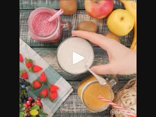 Смузи (ингредиенты указаны в описании видео)