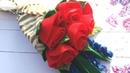 Букет из фетра, розы на шпажках , цветы из мягкого фетра , мк/Bouquet of felt