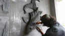 Worker With Amazing Skills - Great Art Is Created From The Sand And Cement - You Should Watch It