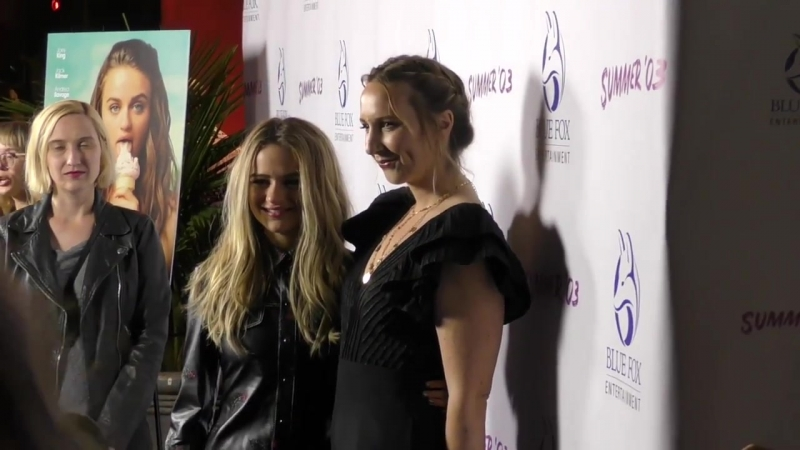 Joey King, Rebecca Gleason and Kelley Jakle attend the Summer 03 premiere at Vista Theatre in Los A