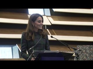 Kate Middleton makes a speech and officially opens V&A Dundee