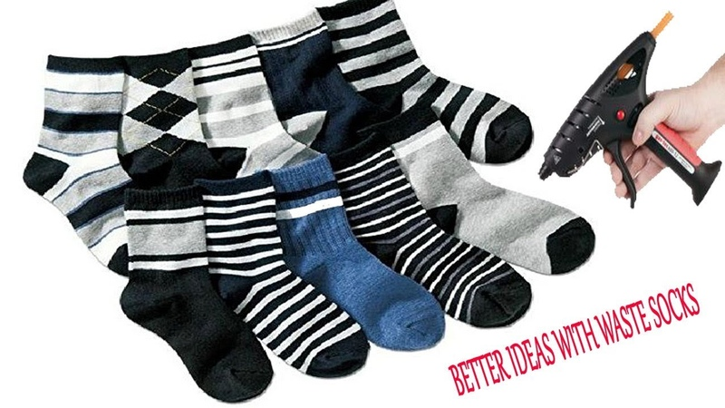 How to turn waste shoe socks into beautiful toys Better ideas with waste shoe socks craft ideas