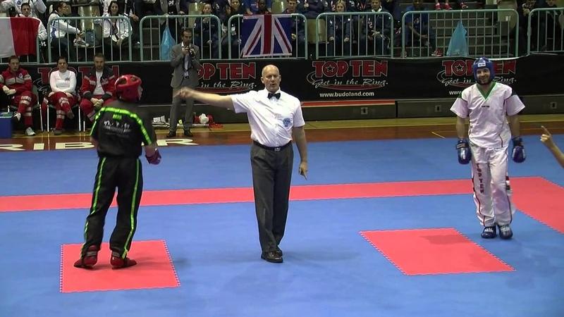 Kevin White IRL v Zsolt Moradi HUN WAKO European Championships 2014