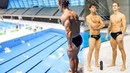 BODYBUILDER TRIES OLYMPIC DIVING Ft Tom Daley
