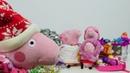 Peppa Pig compra as decorações de Natal Vídeos de brinquedos